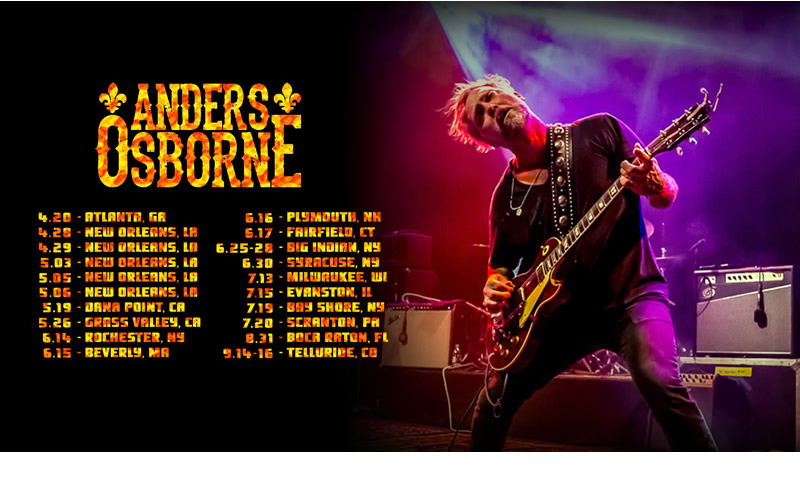 Anders Osborne tour dates