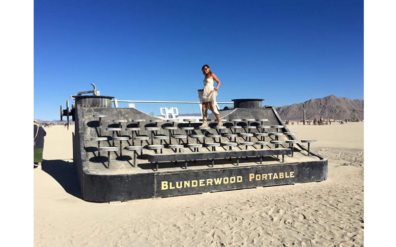 burning man blunderwood portable