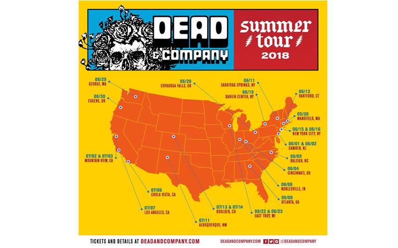 dead and company tour map