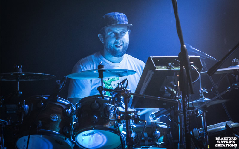Mike Healy drummer live concert photo_by_bradford_watkins_creations_Papadosio