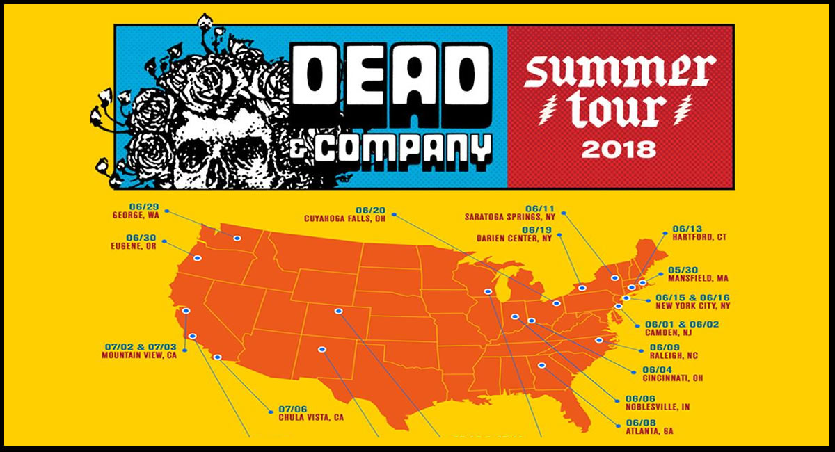 Large Dead and Company TShirt Citifield New York 6//15 6//16 2018 Summer Tour