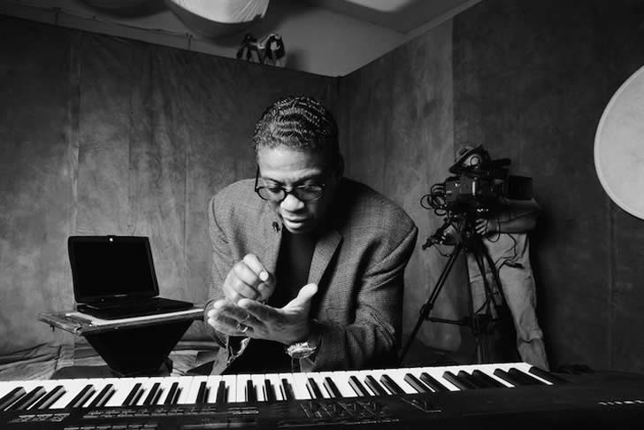 Herbie Hancock on piano
